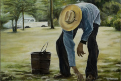 "<strong>Bucket Man</strong> 16"" x 12"" - $1,800"