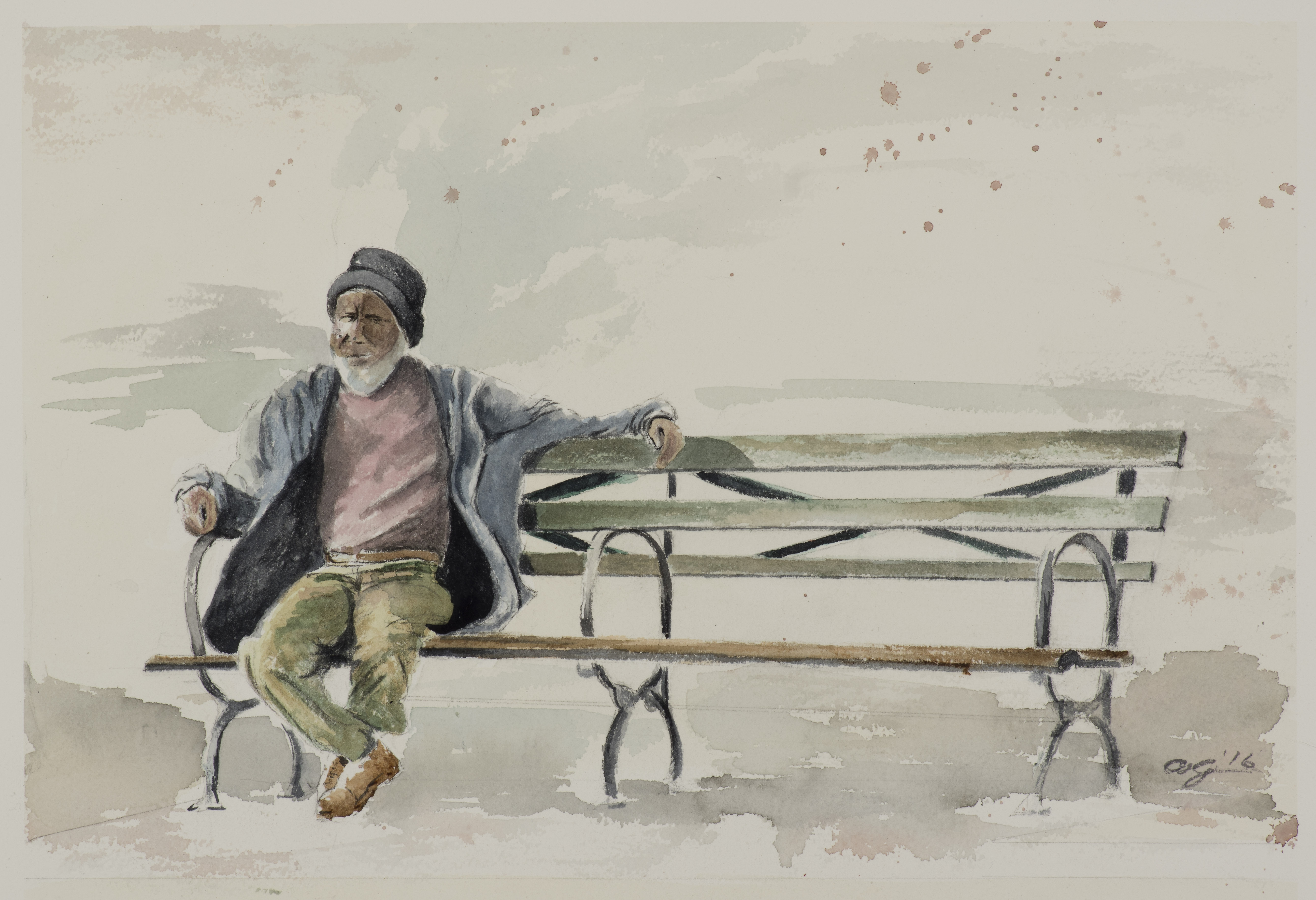 """<strong>Chillin'</strong> 15"""" x 10 ½"""" - $500"""