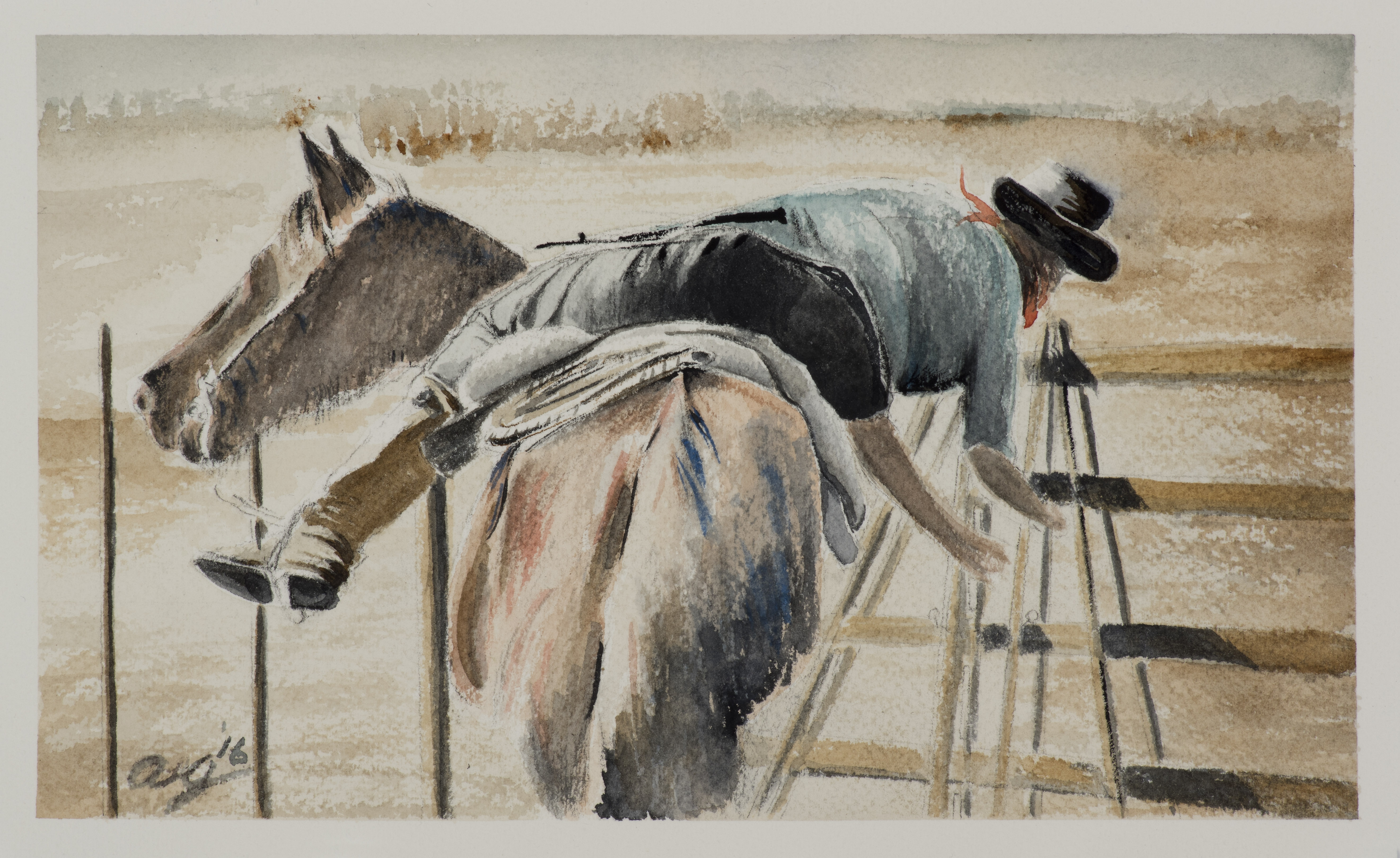 """<strong>Gaucho</strong> 8 ¾"""" x 5 ⅛"""" - $450"""