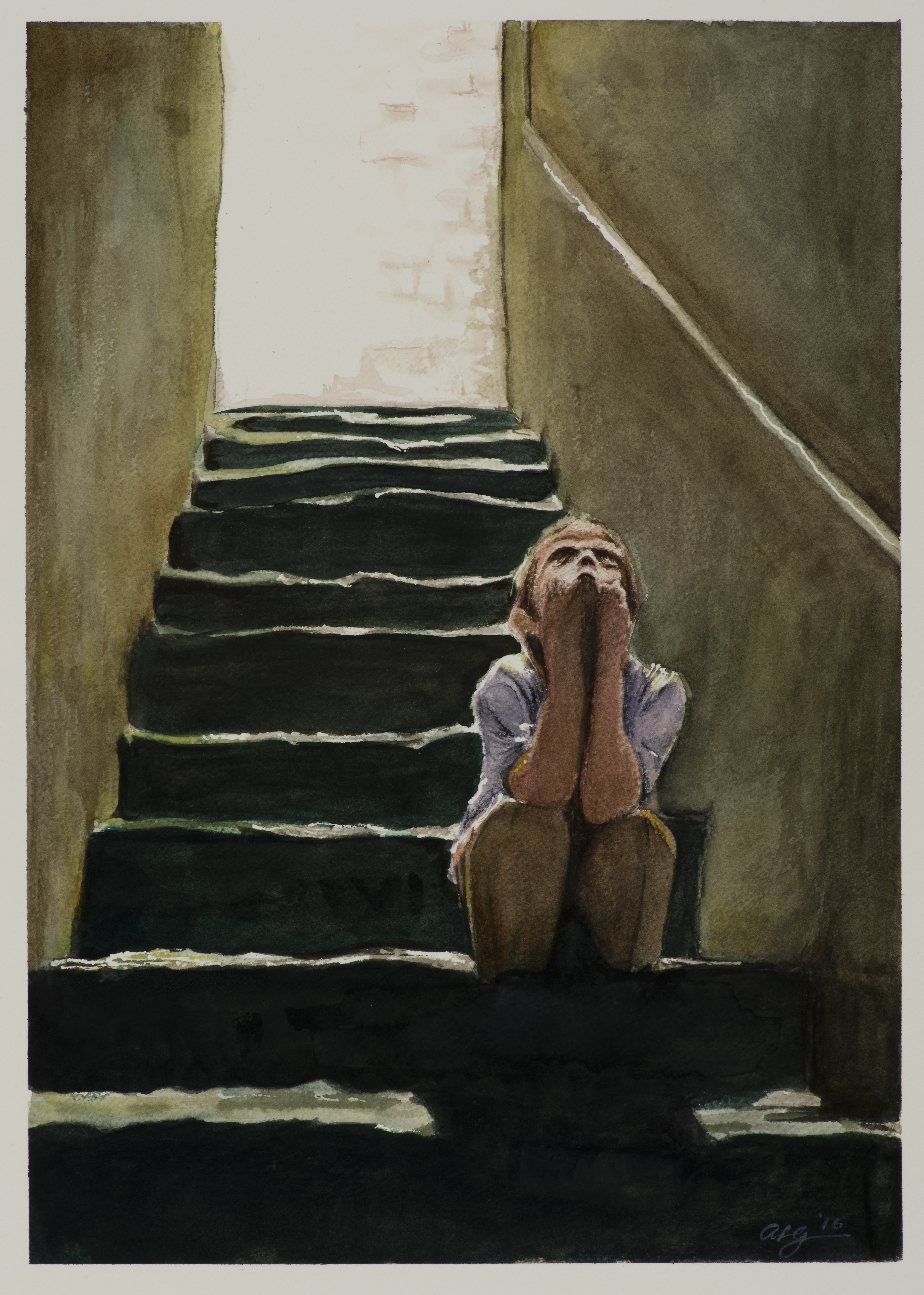 """<strong>Stairwell</strong> 9 ⅝"""" x 14"""" - $750"""